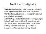 predictors of religiosity
