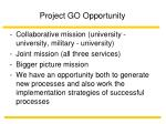 project go opportunity