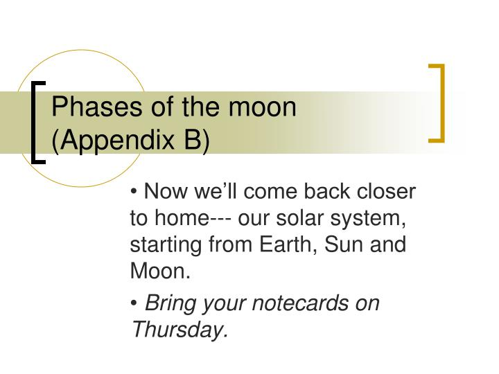 phases of the moon appendix b n.