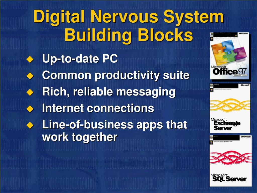 Digital Nervous System     Building Blocks