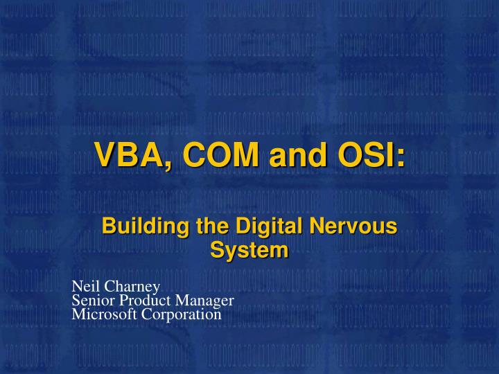 Vba com and osi
