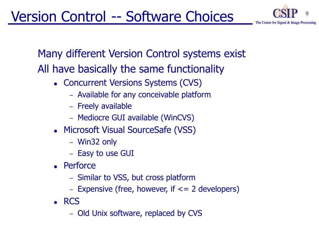 Version Control -- Software Choices