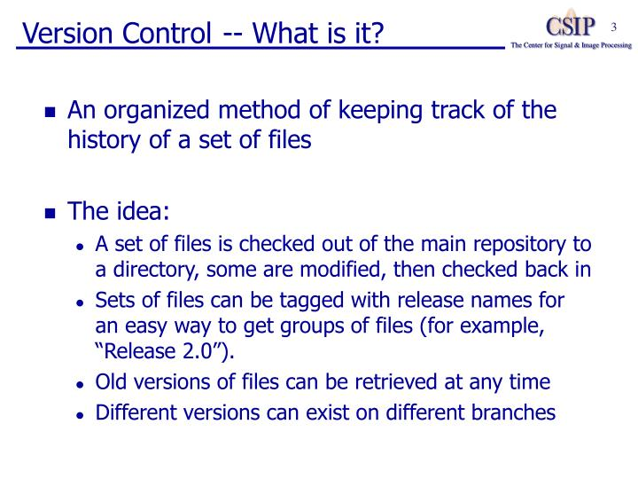 Version control what is it