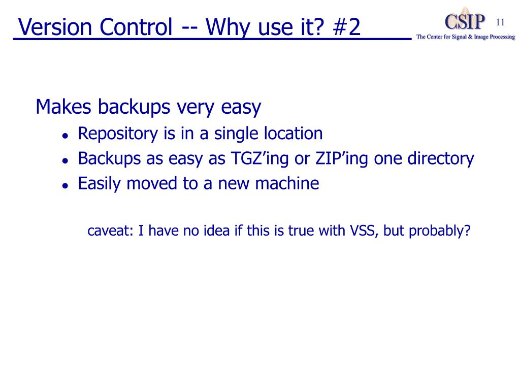 Version Control -- Why use it? #2