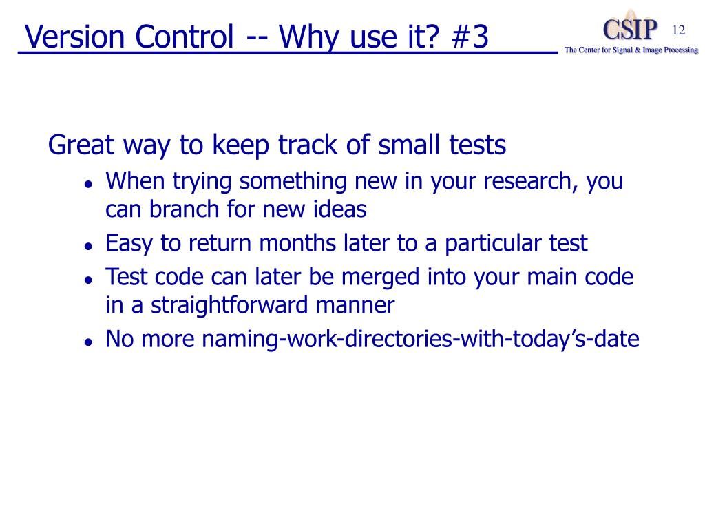 Version Control -- Why use it? #3