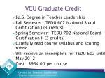 vcu graduate credit