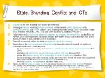 state branding conflict and icts