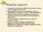 modeling legumes