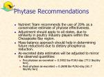 phytase recommendations