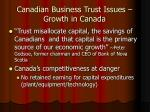 canadian business trust issues growth in canada