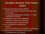 canadian business trust issues others