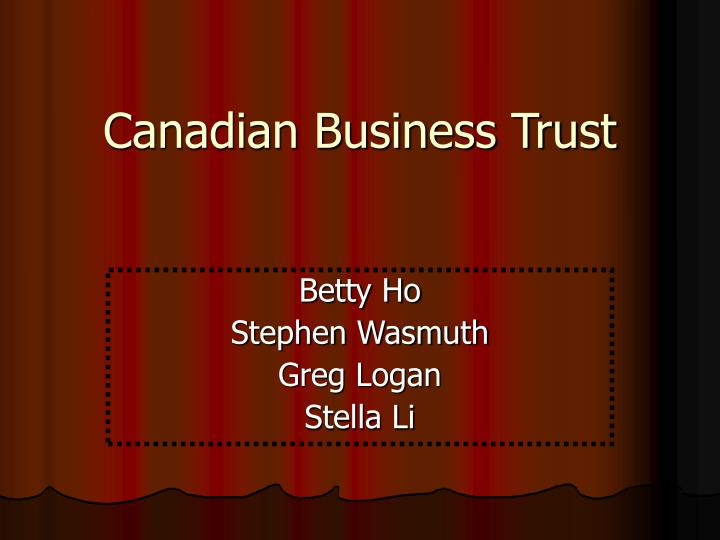canadian business trust n.