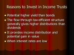 reasons to invest in income trusts