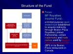 structure of the fund