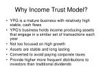 why income trust model