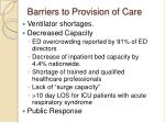 barriers to provision of care