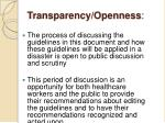 transparency openness