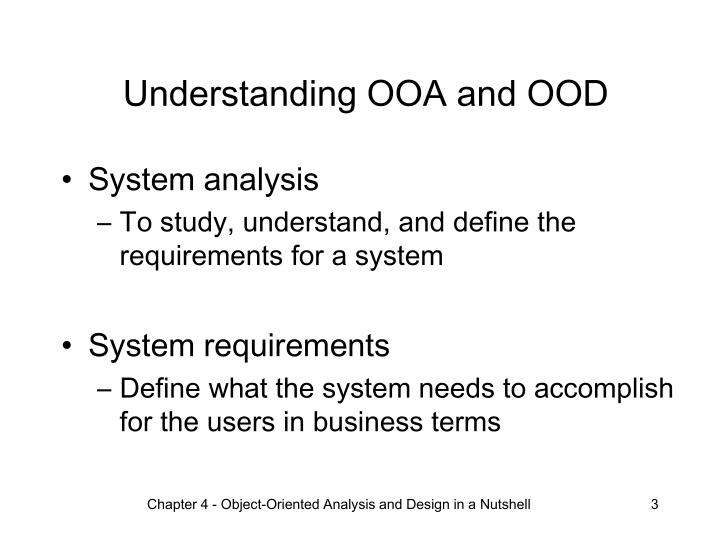 Ppt Chapter 4 Object Oriented Analysis And Design In A Nutshell Powerpoint Presentation Id 994152