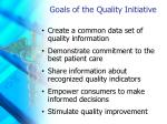 goals of the quality initiative