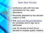open door forums
