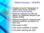patient surveys hcahps