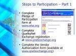 steps to participation part 1