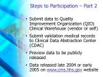 steps to participation part 2