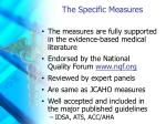 the specific measures1