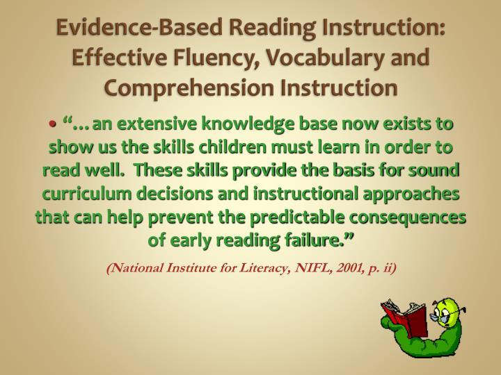 evidence based instruction