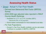 assessing health status