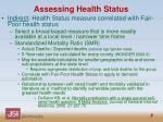 assessing health status1
