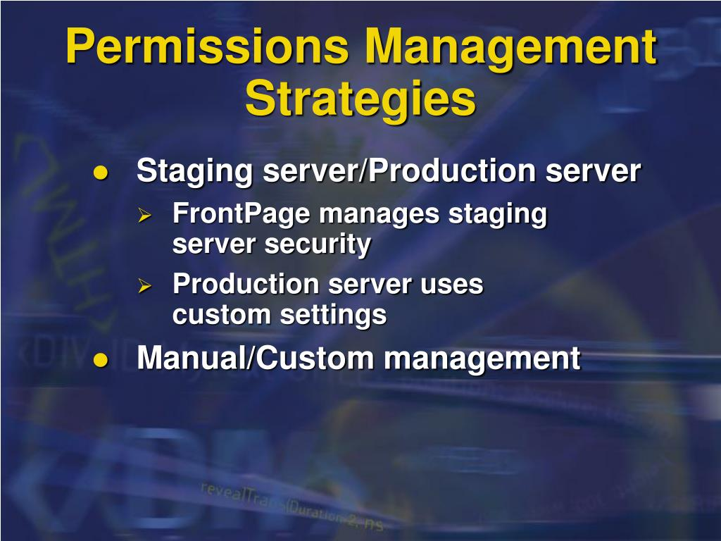 Permissions Management Strategies