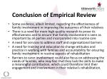 conclusion of empirical review