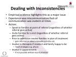 dealing with inconsistencies