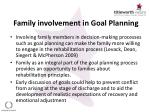 family involvement in goal planning