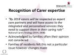 recognition of carer expertise