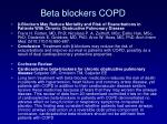 beta blockers copd