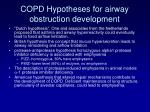 copd hypotheses for airway obstruction development