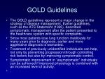 gold guidelines