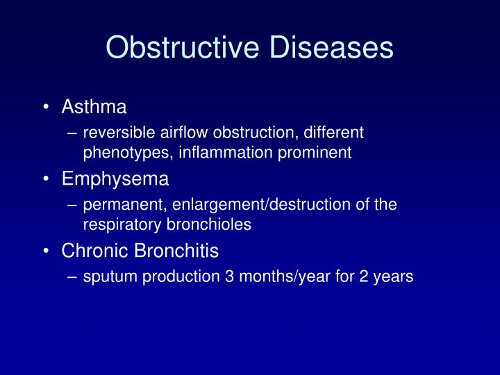 obstructive diseases n.