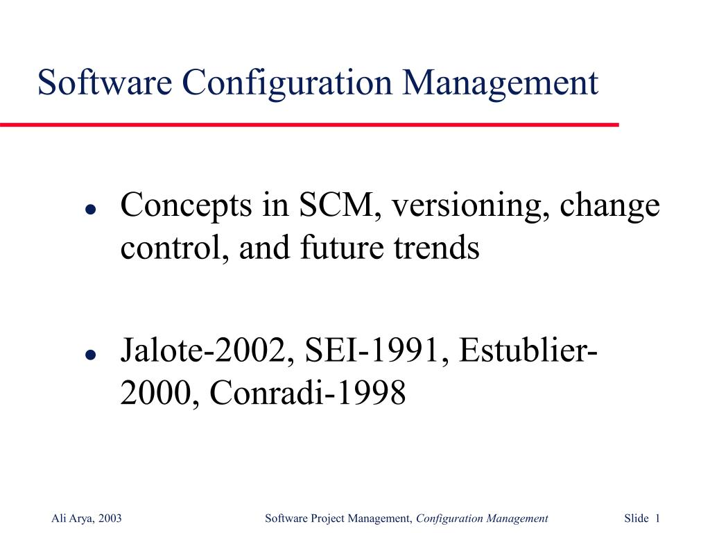software configuration management l.
