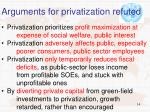 arguments for privatization refuted