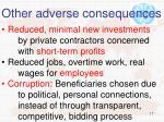 other adverse consequences