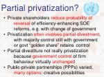 partial privatization