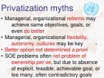 privatization myths