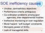 soe inefficiency causes