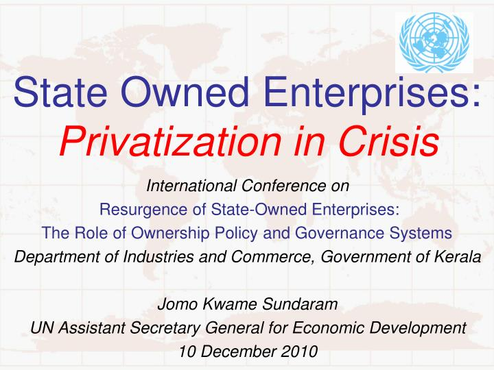 state owned enterprises privatization in crisis n.