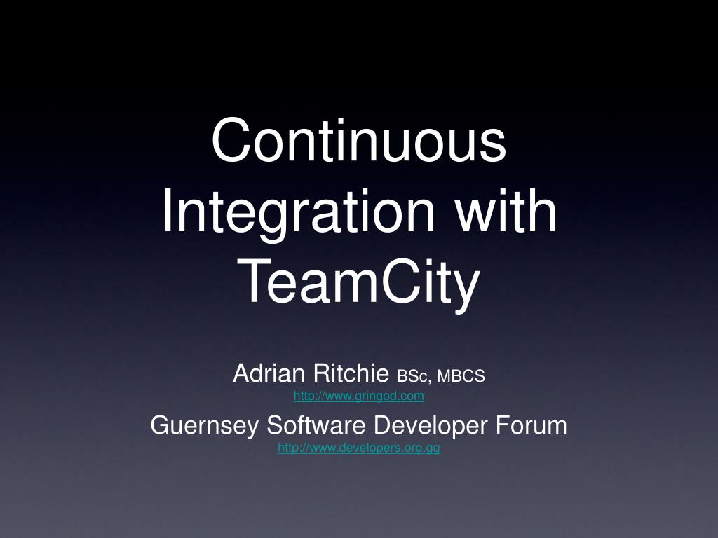 continuous integration with teamcity l.