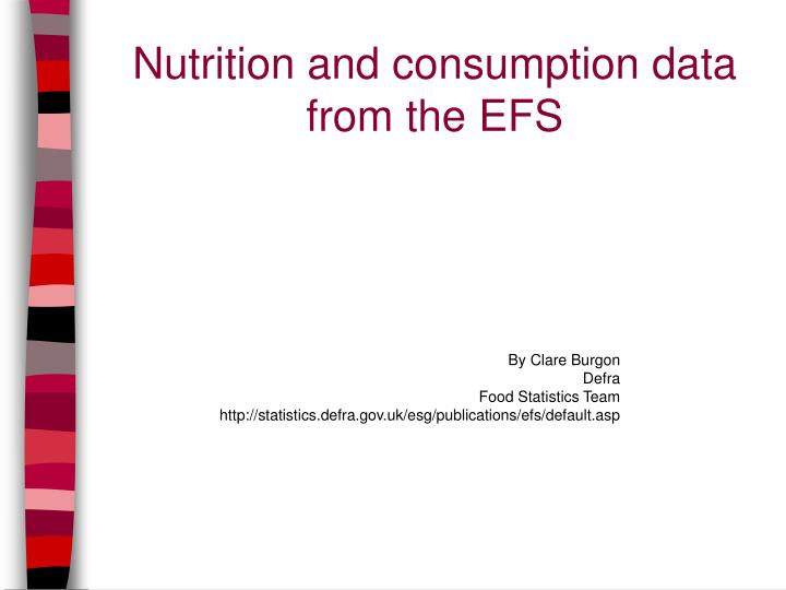 nutrition and consumption data from the efs n.