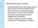 version access control